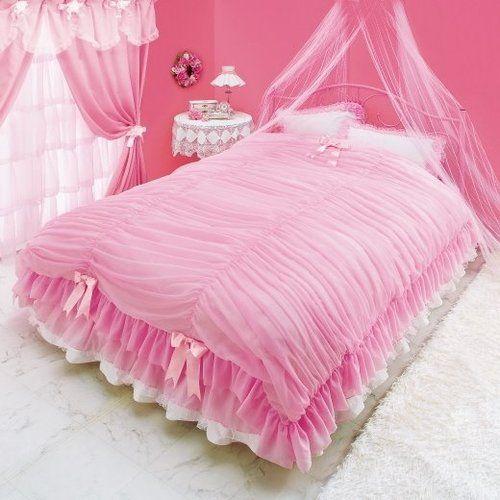 pink bedroom comforter wow