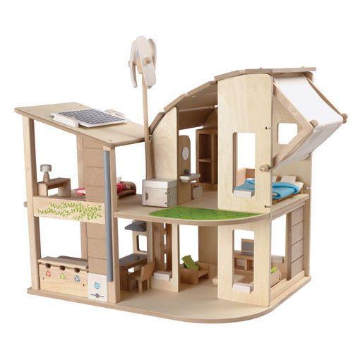 Ekologiczny domek dla lalek - zabawki kreatywne dla dziewczynek
