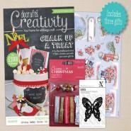 Do Crafts Creativity Magazine nr. 52 November 2014 Bij dit blad krijg je zoveel extra's! Alleen de vlinder stans is het al waard om dit blad te kopen.