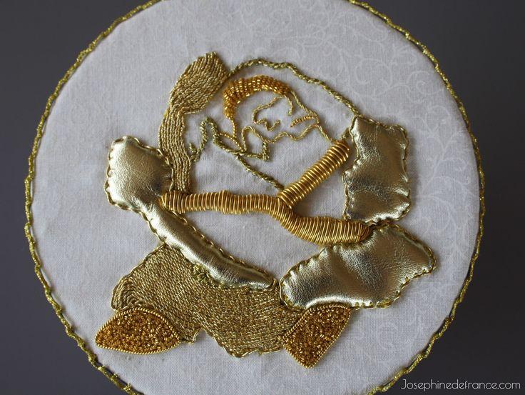 Goldwork sample.