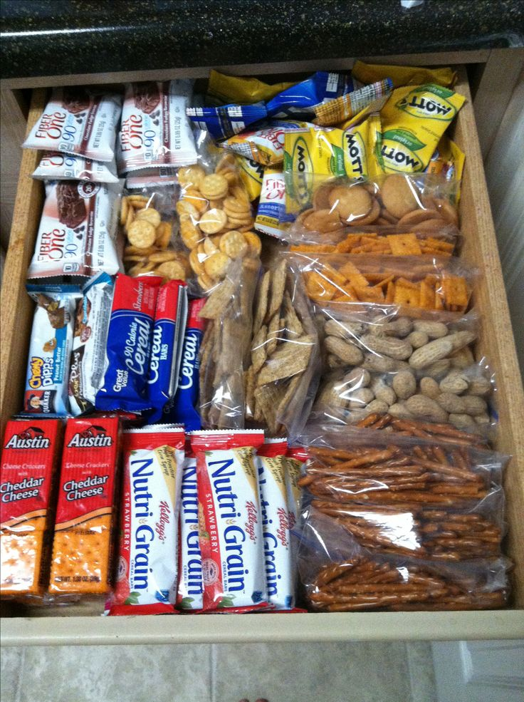Snack drawer..easy for packing lunches, snacks #healthy #portion control