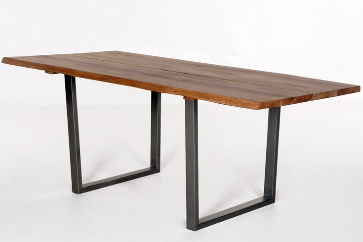 Деревянный стол на металлических ножках, дерево, дерево в интерьере, массив, изделия из дерева, изделия из массива, Бигвуд