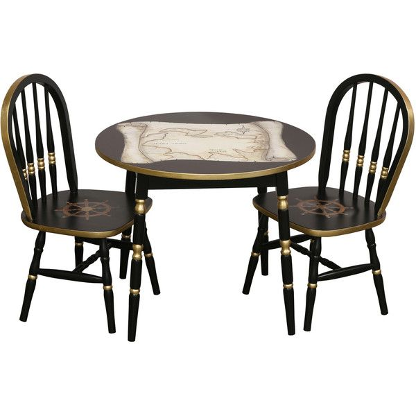 AFK Round Nautical Play Table & Chair Set ($1,719) ❤ liked on Polyvore featuring home, children's room and children's furniture