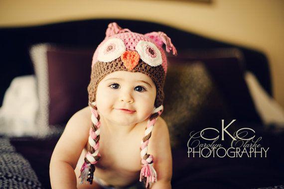 Owl Hat Crochet Photography Prop Newborn and by MRocheCrochet, $21.00