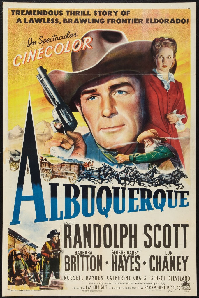 Albuquerque (1948) --Ray Enright 3 out of 5 October