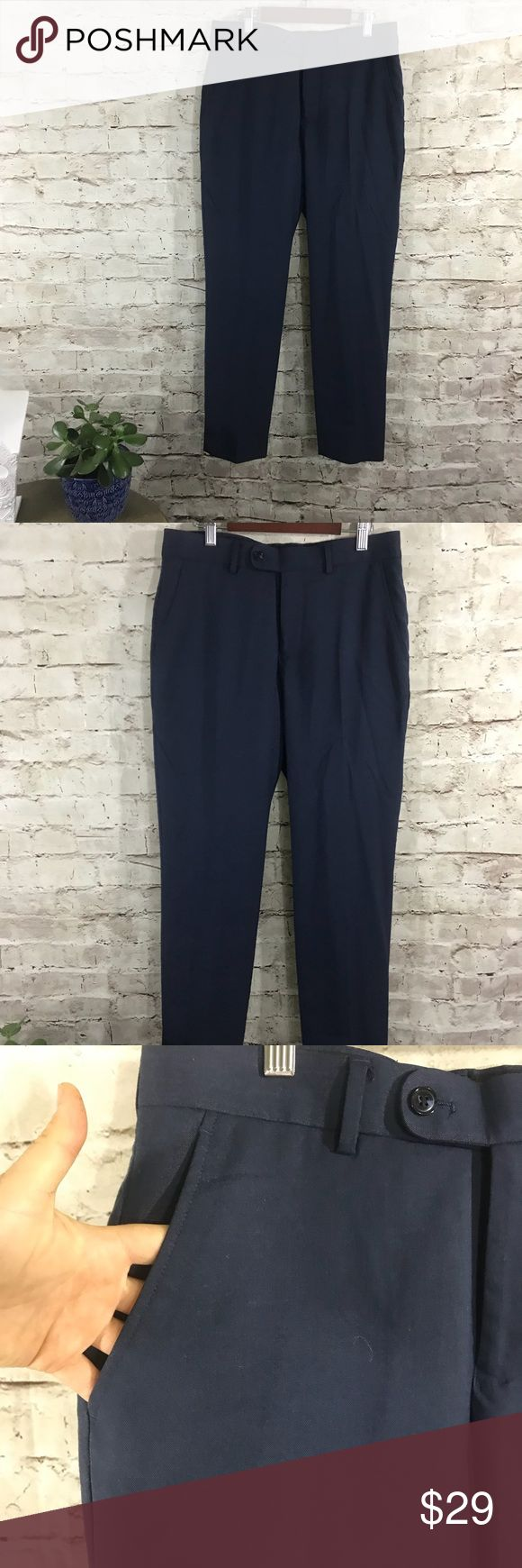 Perry Ellis navy blue pants Navy blue Perry Ellis portfolio navy blue dress pants. Perry Ellis Pants Ankle & Cropped