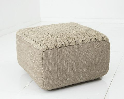 "Take a load off on an authentically handmade Moroccan pouf that doubles as an ottoman or cushion.  #10 23"" long / 23"" wide / 13"" tall  * Lead times are +/- 8 we"