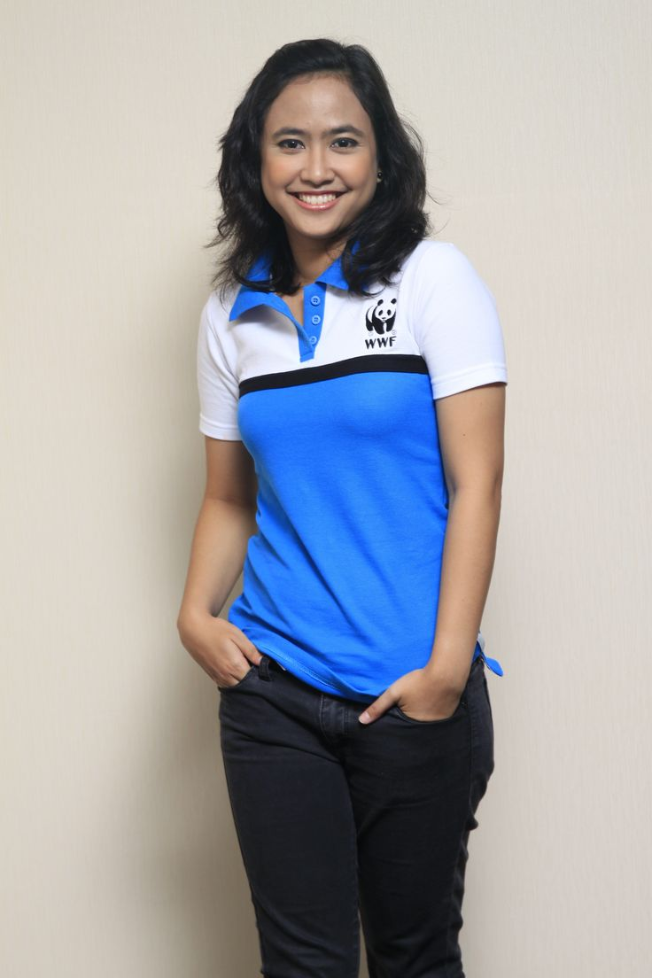 Polo Shirt Female Blue and White COmbination. IDR 135.000. Available from size S to XXL @wwf_pandashop