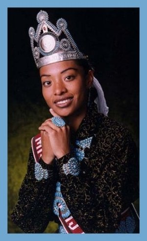 """Miss Navajo Nation 1997-98 Radmilla Cody """"Millie"""" Hometown: Grand Falls, Arizona Age during reign: 21 Education: Coconino High School, 1993 Clans: Mother: Red Bottom People (Tl'aashchí'í) Father: African American (Zhin-ni) Grandfather: Mexican People (Naakaii Dine'e) Nalii: African American (Zhinni) http://www.missnavajocouncil.org/history/missnn/1997-1998.htm"""