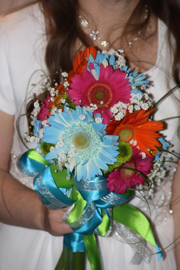 Gerbera daisy bridal bouquet
