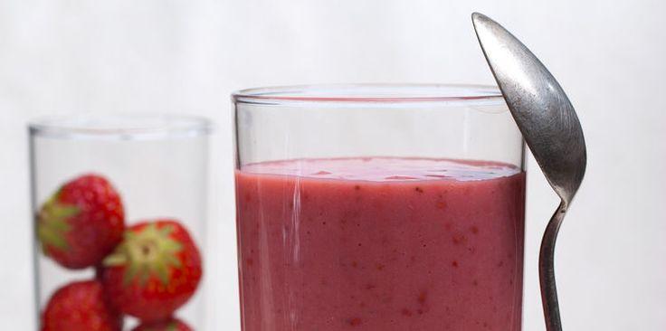Milk-shake fraise banane
