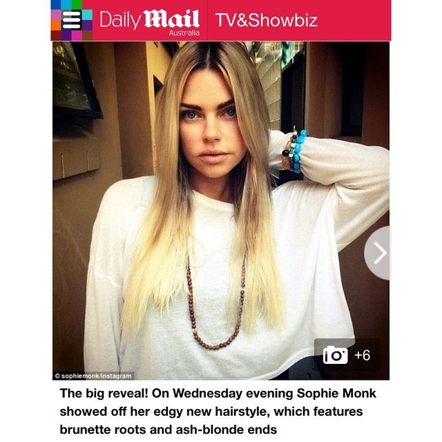 SPOTTED  my girl @sophiemonk sporting her new tresses in @dailymailau see they love my colouring skills hehehe but of course they love my fine looking lady ✌️✌️#LusciousLox #dailymailau #sophiemonk #balayage #blondesdoitbetter #ombresombre #hairextensions #hairstylist #bff #bestoftheday