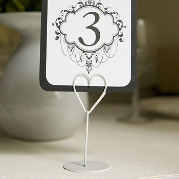 For Hire: Heart shaped wedding table name holders. £0.50 each. South of England. www.rosetintmywedding.co.uk