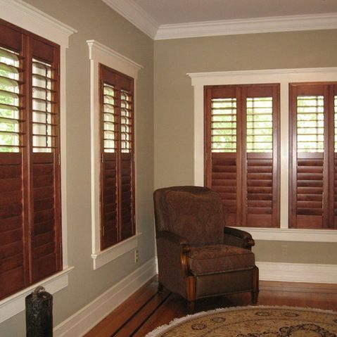 Stained Plantation Shutters Baseboard Styles Home