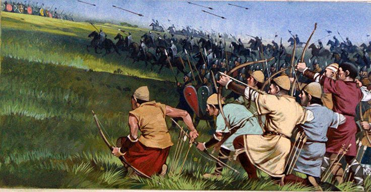 The Longbowmen (Original) (Signed) art by Angus McBride Archive