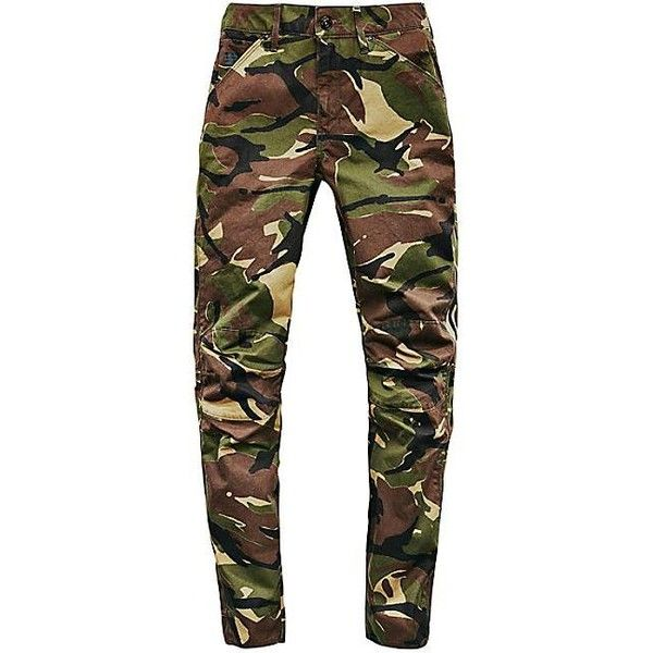 G-Star 5622 Elwood Camouflage Skinny Jeans ($180) ❤ liked on Polyvore featuring jeans, white skinny leg jeans, skinny jeans, white super skinny jeans, skinny fit jeans and camouflage skinny jeans