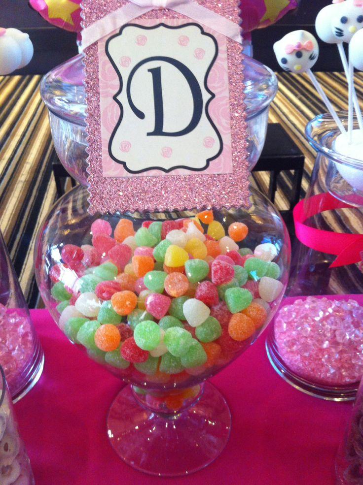 Candy bar -monogram -birthday party -