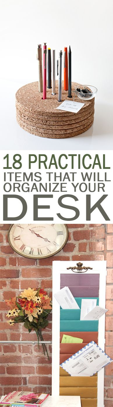 How to Organize Your Desk, Easy Ways to Organize Your Desk, Easy Desk Organization, Organization Ideas, Cleaning, Cleaning Hacks, Organziation Tips and Tricks, Home Office Organization, Home Office Tips and Tricks, Popular Pin.