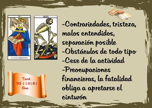 Ana Tarot: COMBINACIONES: PAPISA/ MUERTE