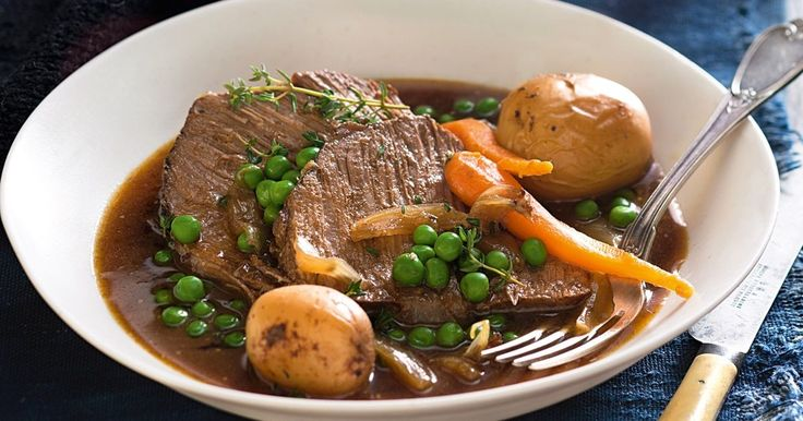 Pull out the slow cooker for a classic roast beef and vegetables recipe.
