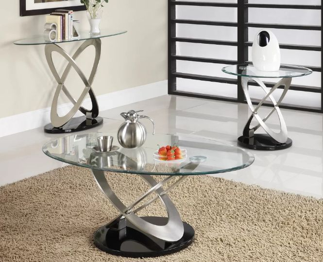 Best 3 Piece Glass Coffee Table Set From 118 99 Interior Room Interior Coffee Table Setting