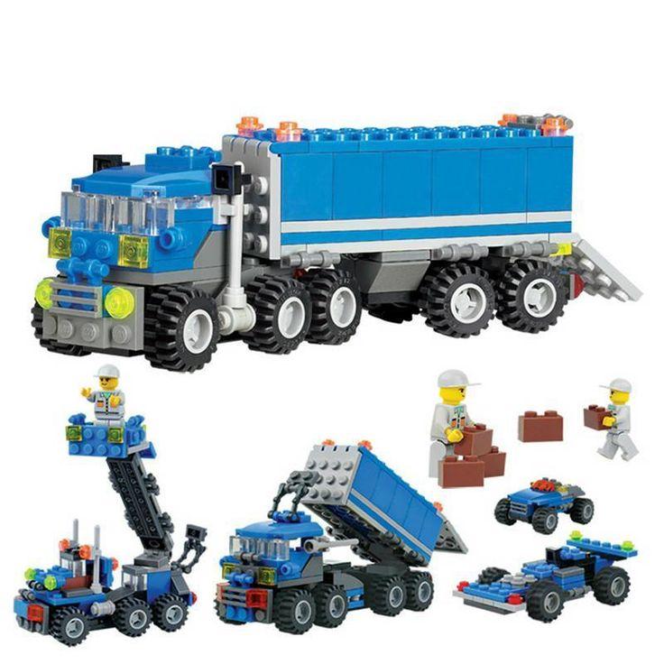 163 Pieces Educational Toys Dumper Truck DIY Building Block Sets Development Kid #JOCESTYLE