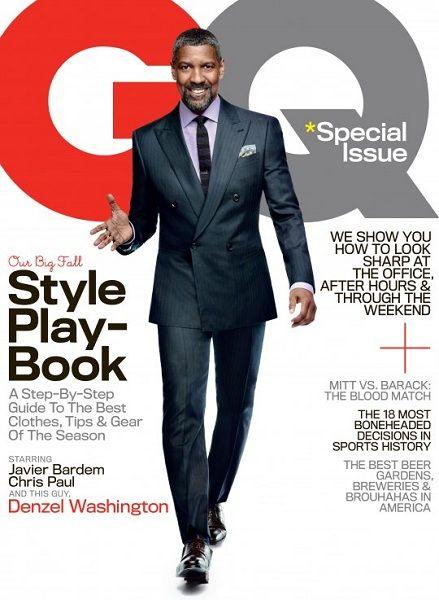 Denzel Washington. GQ. October 2012.