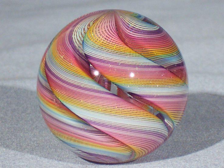Marbles Hand Made Art Glass James Alloway Dichroic Quadmania 126 1 8 Inch   eBay