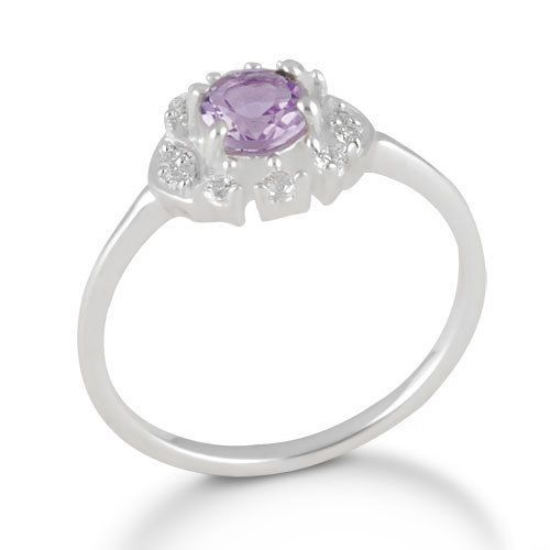 Natural Amethyst Stone Ring 925 Solid Sterling Silver Jewelry SZ 8 #Rinnga