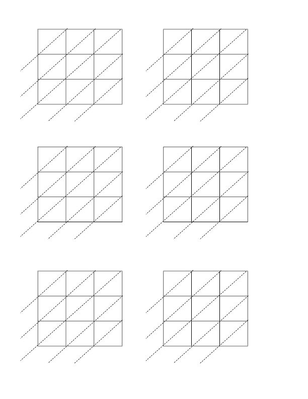 3x3 Lattice Computation Grid Worksheet Lattice Math Math Grid Educational Worksheets