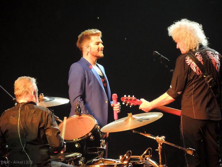 Queen + Adam Lambert performing at the Wells Fargo Center in Philadelphia, PA on July 30, 2017