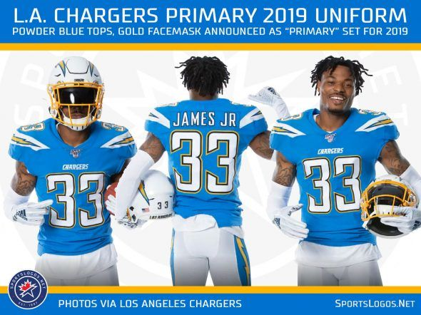 La Chargers Announce Changes To Uniform For 2019 Chris Creamer S Sportslogos Net News And Blog New Logos And New Los Angeles Chargers Chargers Los Angeles