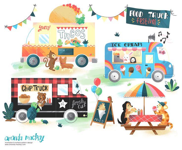 Food Truck Festival - by Amanda MacKay Illustration
