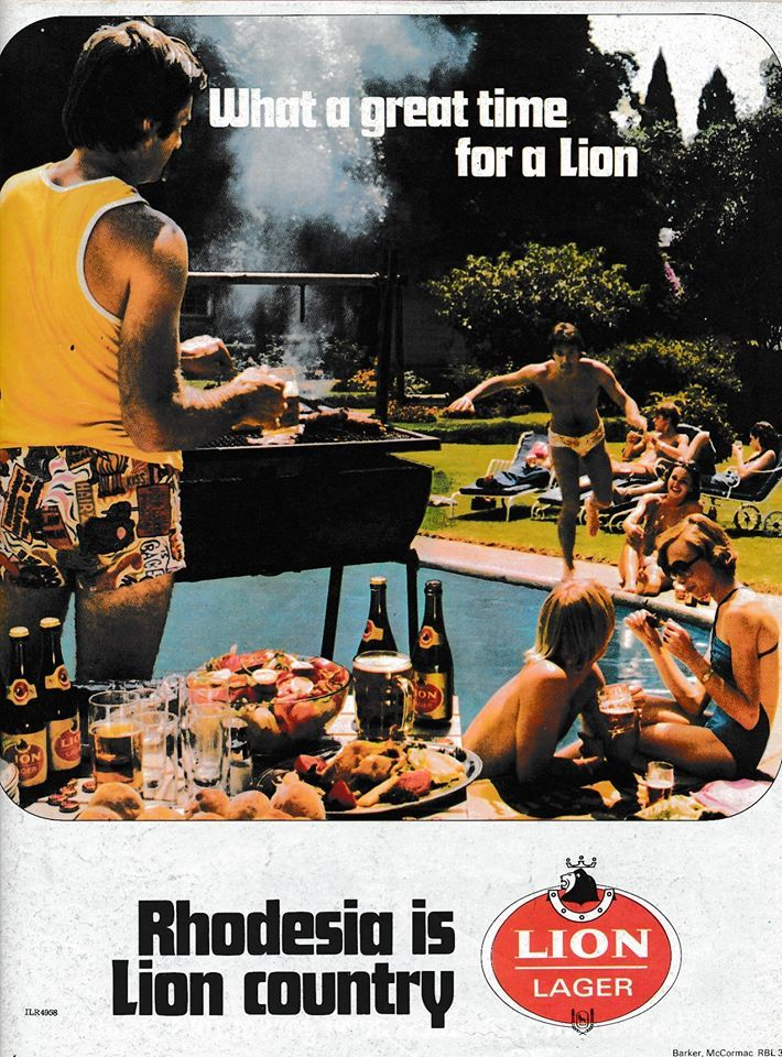 Advert for Lion Lager