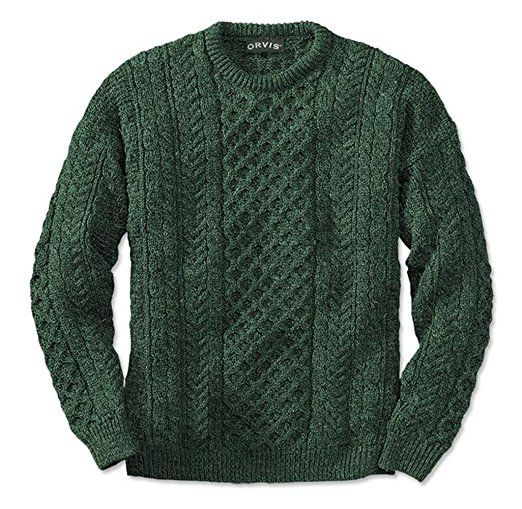 Orvis Black Sheep Irish Fisherman's Sweater / Black Sheep Irish Fisherman's Sweater: Amazon.co.uk: Clothing