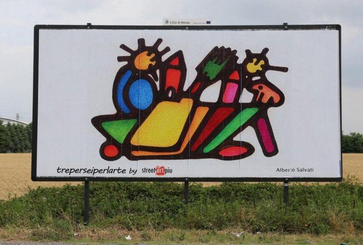 I cartelloni pubblicitari diventano opere d'arte: Monza galleria a cielo aperto