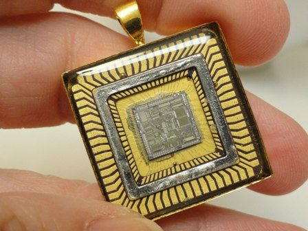 1978 Vintage CPU Pendant by GMOTHERBORED on Etsy, $50.00  It was hard to decide whether to pin this on the jewelry, pattern or great use of materials board. This is only one of this artist's pieces that I would like to own.