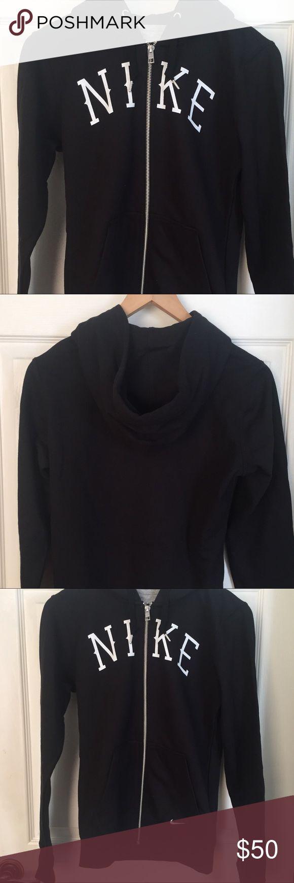 NWT: Nike zip up hoodie New black Nike zip up jacket in perfect condition. Accepting offers. Nike Tops Sweatshirts & Hoodies