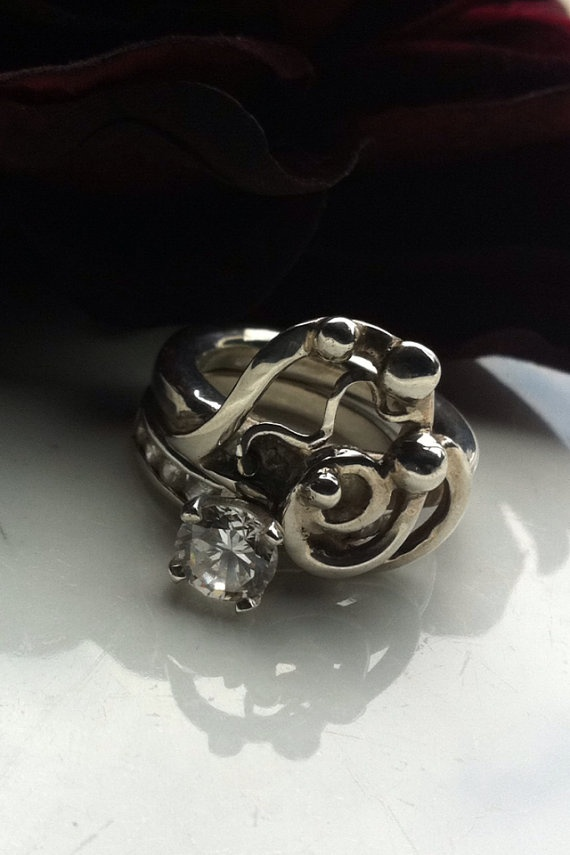 Made to order recycled gold and silver by TheBlackPearlDesigns, $267.17