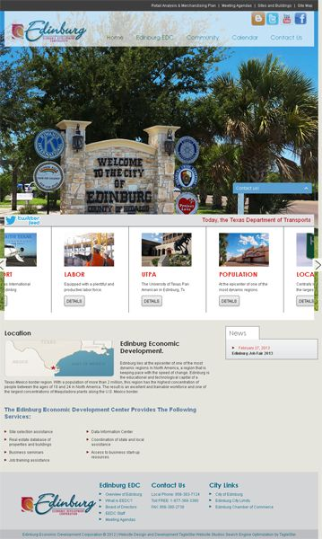 Website Design and Development for Edinburg