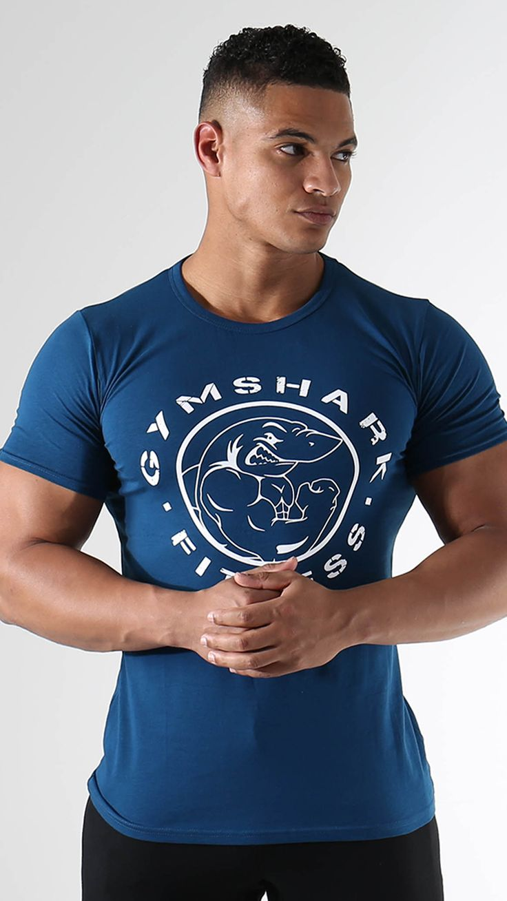 Fitness t-shirts in atlantic blue launching 20th January.