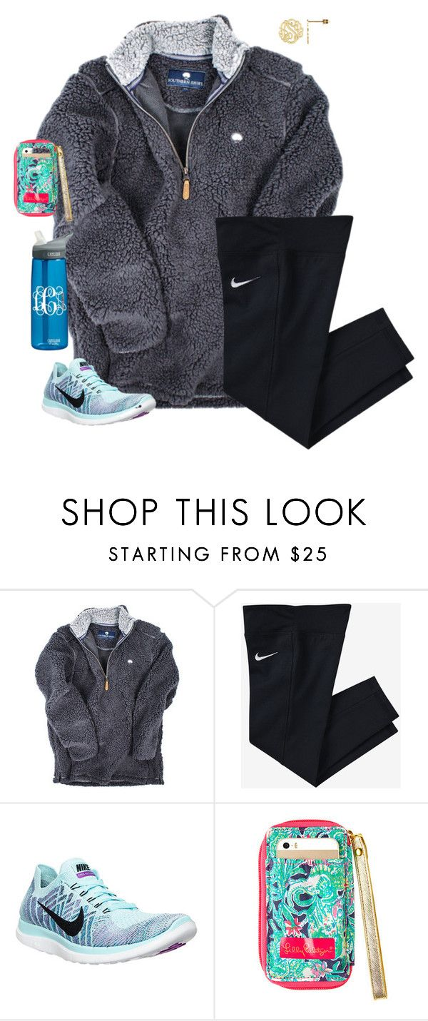 """Stay close to anything that makes u happy to be alive"" by mgpayne10 ❤ liked on Polyvore featuring NIKE and CamelBak"