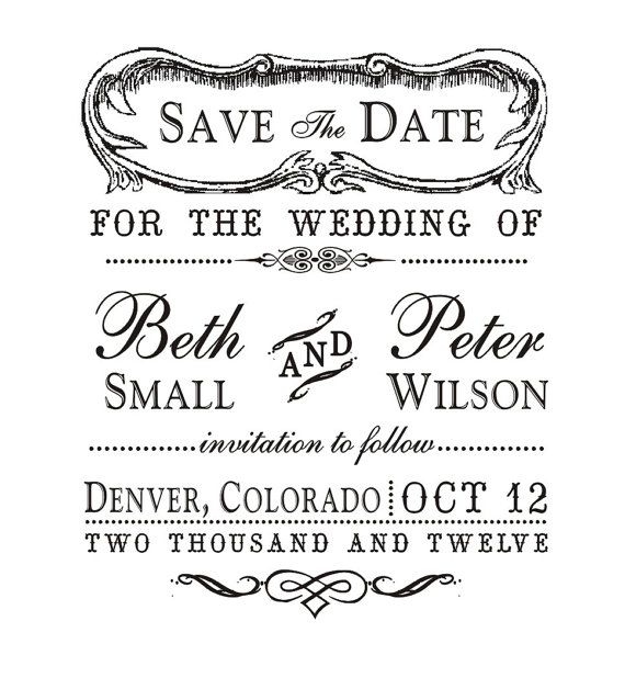 Love the idea of a vintage save the date stamp! This one is only $24.00