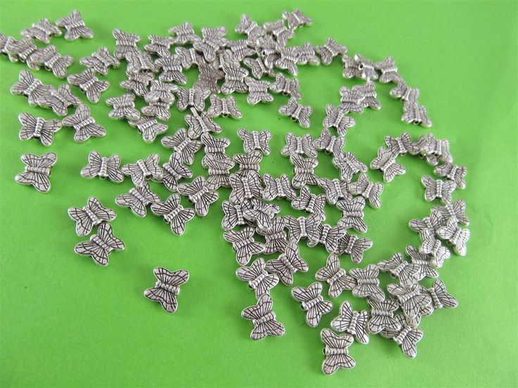 Metal butterflies 6mm (25 pcs)