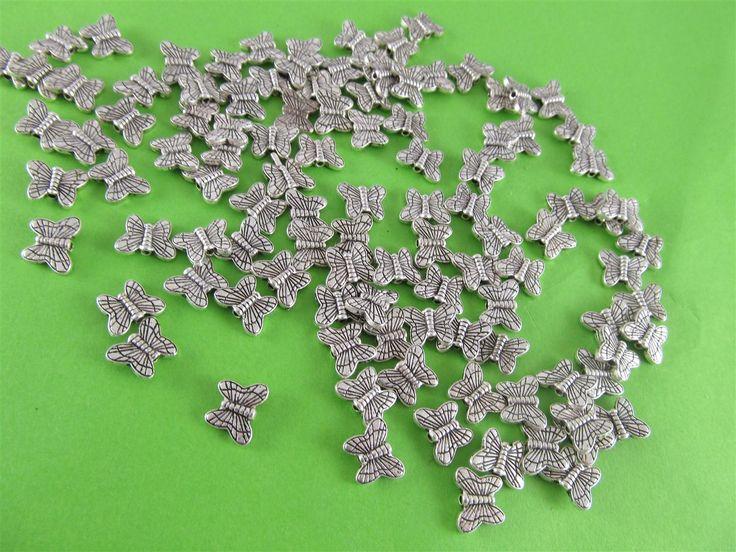 Metal butterflies 6mm (25 pcs)