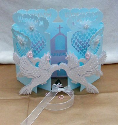 Craft Robo Gsd File Template Dove Wedding Door Card
