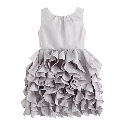 J.Crew flower girl dress- white or gray    If I were to have a flower girl, this would be here dress