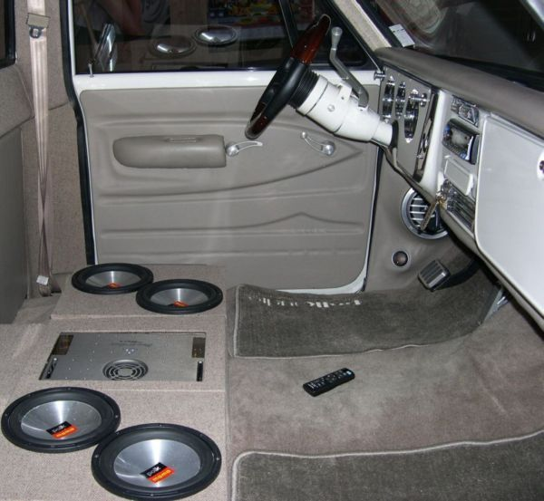 67-72 chevy truck interior with music installed. .