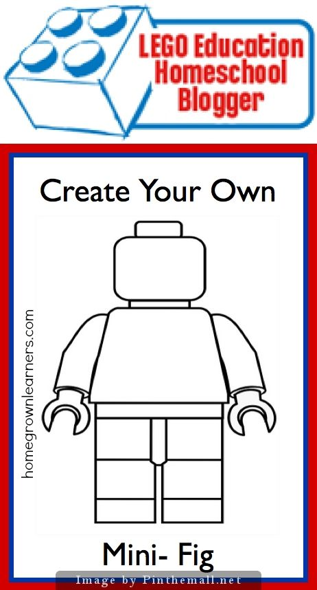 Create Your Own Mini-Lego Character - The possibilities are endless :) Use to illustrate a Story, Create a Self-portrait, Draw Emotions, Use at a Children's Party - A fun craftivity for those Legomaniacs!