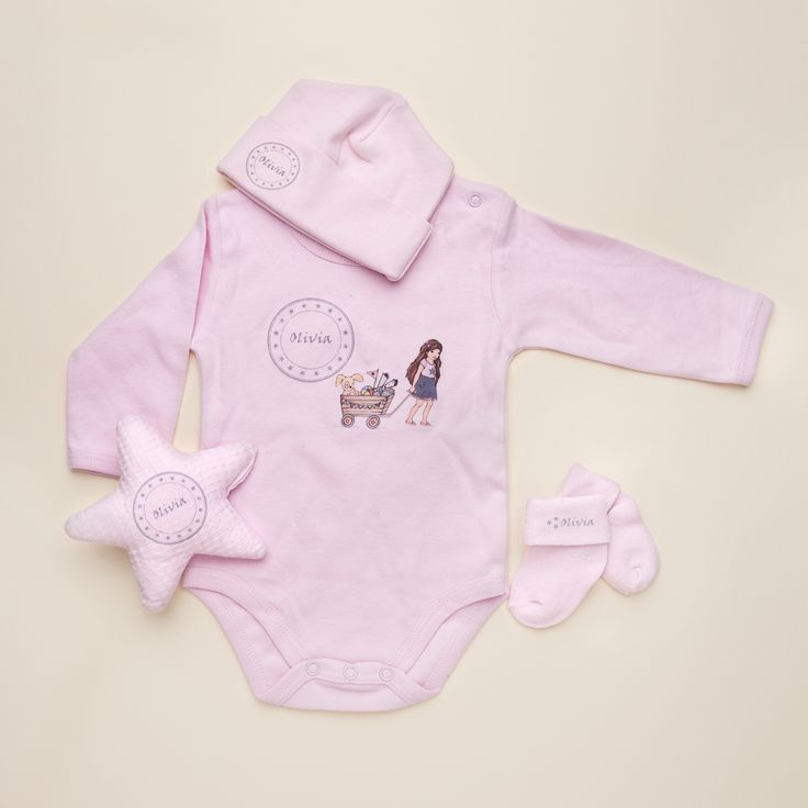 29 best personalized baby gifts images on pinterest personalized perfectly pretty personalised clothing set for baby girl the perfect baby shower gifts by negle Gallery